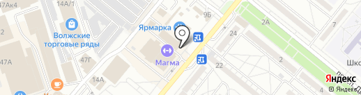 Магнит на карте Волжского