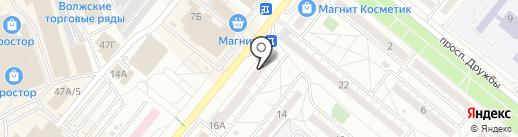 Почтовое отделение №2 на карте Волжского