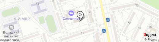 Пятерочка на карте Волжского