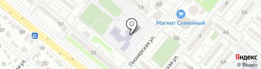 Средняя общеобразовательная школа №12 с углубленным изучением отдельных предметов на карте Волжского
