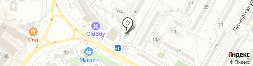 Магазин игрушек и канцелярских товаров на карте Волжского