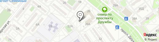 Магазин кондитерских изделий на карте Волжского