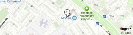 Литрушка на карте Волжского