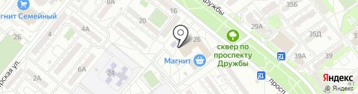 Пункт приема стеклотары и макулатуры на карте Волжского