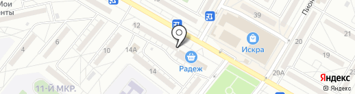 Тенториум на карте Волжского