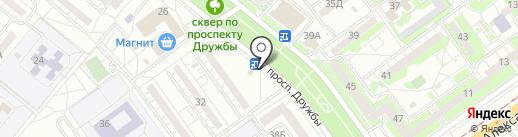 Гараман на карте Волжского