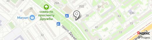 Vintage на карте Волжского