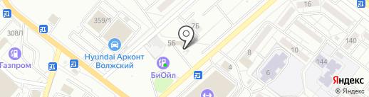 Акватория на карте Волжского