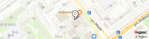 Магазин мясной продукции на карте Волжского