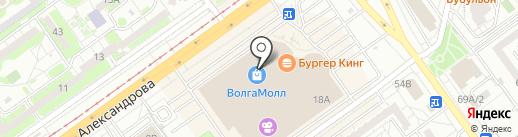 Троица на карте Волжского