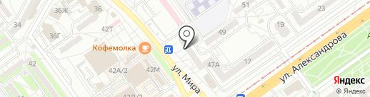 Каскад на карте Волжского