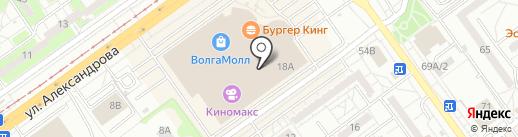 Пиццаград на карте Волжского