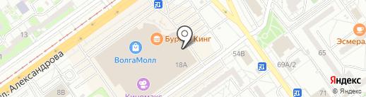Премьер на карте Волжского