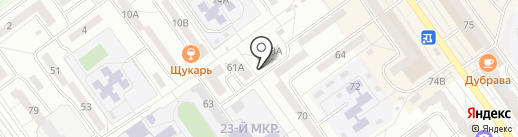 Юла на карте Волжского