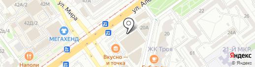 Пекарь на карте Волжского