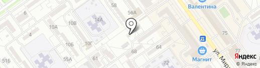 Марат на карте Волжского