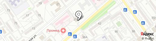 Братница на карте Волжского