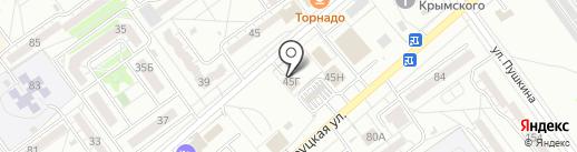 Сударь на карте Волжского