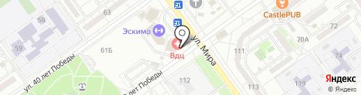 ВДЦ на карте Волжского