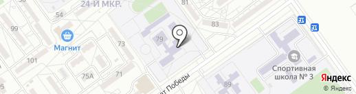 Средняя общеобразовательная школа №31 на карте Волжского