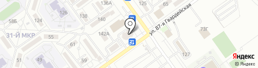 Эвита на карте Волжского
