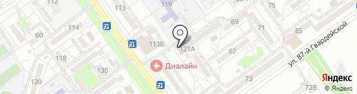 Южный двор на карте Волжского