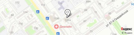 Луч на карте Волжского