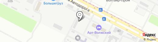 Волжские краски на карте Волжского