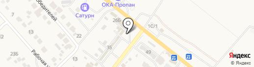 Компания Оберег на карте Средней Ахтубы