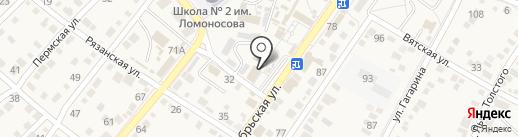 Банкомат, Поволжский банк Сбербанка России на карте Средней Ахтубы