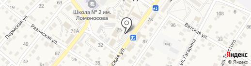 Магазин мясной продукции на Октябрьской на карте Средней Ахтубы