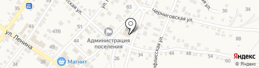 Поволжский банк Сбербанка России на карте Средней Ахтубы