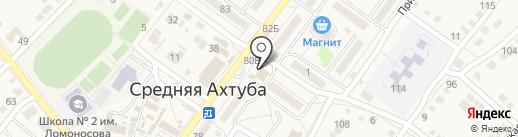 Тандырыч на карте Средней Ахтубы