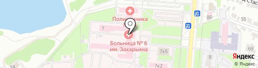 Клиническая больница №6 им. Г.А. Захарьина, ГБУЗ на карте Пензы