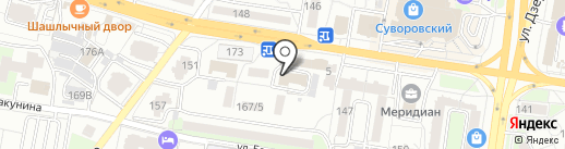 Стаханов на карте Пензы