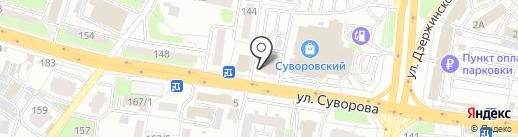 Офис страховых услуг на карте Пензы