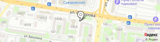 Экспертно-оценочная фирма на карте Пензы