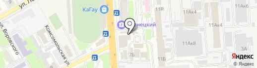 Кондитерский магазин на карте Пензы