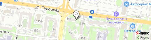 Белый мак на карте Пензы