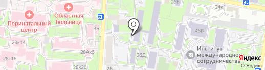 Пензенский государственный университет на карте Пензы