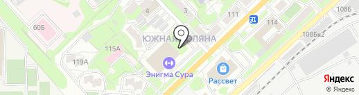 Юлия на карте Пензы