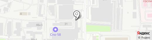 Интерьер Центр на карте Пензы
