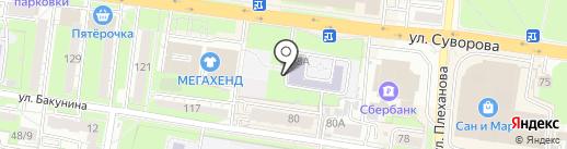 Лицей современных технологий управления №2 на карте Пензы
