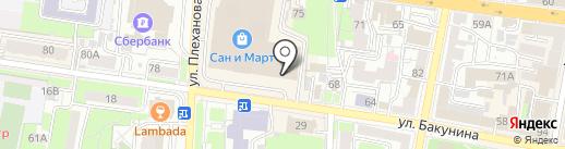 Магазин ковров и текстиля на карте Пензы
