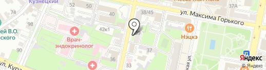 Адвокатский кабинет Дыбновой М.И. на карте Пензы