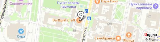 ЕВРОПЕЙСКАЯ на карте Пензы