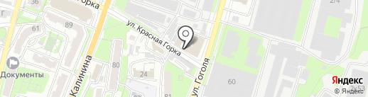 Горка красная на карте Пензы