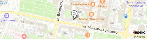 Антэ-Инвест на карте Пензы