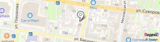 Ева на карте Пензы