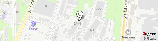 Феникс на карте Пензы